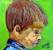 Children Portrait Print Prints - Portrait of Charles Rioux Print by Greg Mason Burns