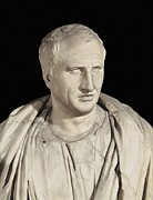 Statue Portrait Prints - Portrait Of Cicero. Ca.   50 Bc. Roman Print by Everett