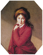 Marie Louise Framed Prints - Portrait of Countess Golovin Framed Print by Marie Louise Elisabeth Vigee-Lebrun