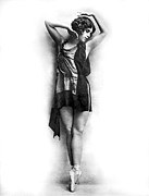 Ballet Dancers Art - Portrait of Dancer Agnes Boone by Underwood Archives