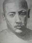 Moroccan Drawings Posters - Portrait of Dr Dre Poster by Ibz