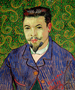 Green Jacket Prints - Portrait of Dr Felix Rey Print by Vincent van Gogh