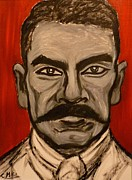Emiliano Zapata Paintings - Portrait of Emiliano Zapata by Cindy MILLET
