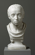 Portraits Sculpture Framed Prints - Portrait of Emmanuel Kant  Framed Print by Friedrich Hagemann