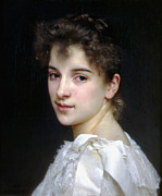 Portrait Of Woman Digital Art - Portrait of Gabrielle Cot by William Bouguereau