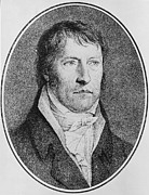 Male Drawings - Portrait of Georg Wilhelm Friedrich Hegel  by FW Bollinger