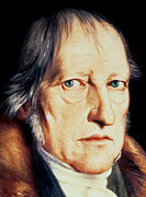 Whiskers Paintings - Portrait of Georg Wilhelm Friedrich Hegel by Jacob Schlesinger