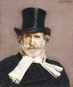 Boldini Posters - Portrait of Giuseppe Verdi Poster by Pg Reproductions