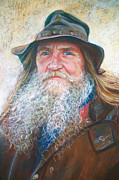 Portraiture Pastels Prints - Portrait of Graham Print by Lynda Robinson