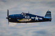 Grumman Prints - Portrait of Grumman F6F Hellcat Print by Puget  Exposure