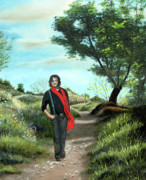 Original Oil Paintings - Portrait of Hacene by Cecilia  Brendel