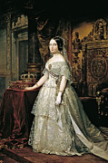Famous Artists - Portrait of Isabella II by Federico de Madrazo y Kuntz