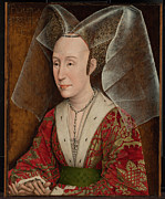 Isabella Of Portugal Framed Prints - Portrait of Isabella of Portugal  Framed Print by Workshop of Rogier van der Weyden