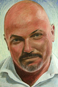 Larger Paintings - Portrait of Jamez Ronald Prudlick by Ron Richard Baviello
