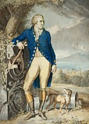 Full-length Portrait Painting Prints - Portrait of Johann Wolfgang von Goethe in the country  Print by Johann Heinrich Wilhelm Tischbein