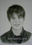 Justin Bieber Drawings Originals - Portrait of Justin Bieber by Kuntal Chaudhuri