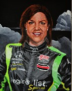Indy Car Posters - Portrait of Katherine Poster by P D Morris