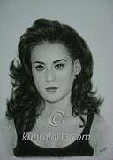 Katy Perry Drawings - Portrait of Katy Perry by Kuntal Chaudhuri