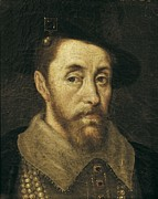 King James Art - Portrait Of King James I. 17th C by Everett