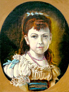 Gorecki Paintings - Portrait of little Girl by Henryk Gorecki