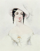 White Dress Prints - Portrait of Lola Montez Print by Camille Joseph Roqueplan