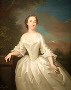 Wollaston Framed Prints - Portrait Of Lucy Parry -- Wife Of Admiral William Parry Framed Print by Cora Wandel