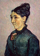 Hair Bun Framed Prints - Portrait of Madame Jeanne Lafuye Trabuc Framed Print by Vincent Van Gogh
