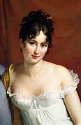 Smart Painting Metal Prints - Portrait of Madame Recamier  Metal Print by Francois Pascal Simon Baron Gerard