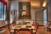 Independence Hall Posters - Portrait of Marie Antoinette in Congress Hall Poster by Lee Dos Santos
