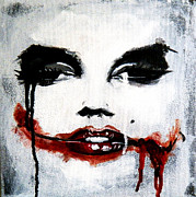 Slash Art - Portrait of Marilyn as the Joker by Ma  Ra