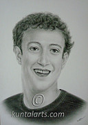 Ceo Originals - Portrait of Mark Zuckerberg by Kuntal Chaudhuri
