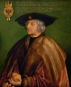 Albrecht Metal Prints - Portrait of Maximilian I Metal Print by Albrecht Durer