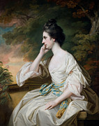 Drapery Prints - Portrait of Miss Anne Dutton Print by Francis Cotes