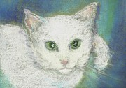 Cat Pastels - Portrait Of Misty  2010 by Denise Fulmer