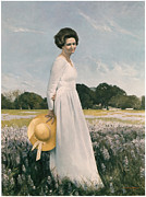 Portrait Of Mrs Lyndon B Johnson Print by Mountain Dreams