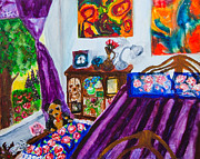 Lyrical Prints - Portrait of my room at the Rivoli Print by Natasha R Three