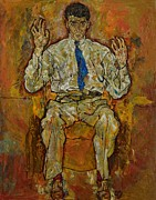 Shirt Paintings - Portrait of Paris von Gutersloh by Egon Schiele