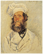 Impressionism Prints - Portrait of Pere Paul Print by Claude Monet