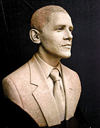 Cast Sculpture Reliefs - Portrait of President Barack Obama by Tsvetana Yvanova