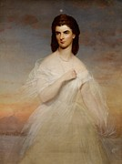 Evening Gown Paintings - Portrait of Queen Maria Sophia of Naples by Franz Xaver Winterhalter