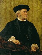 Richard Art - Portrait of Richard Wagner by Giuseppe Tivoli