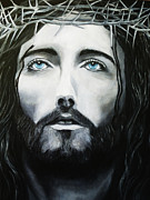 Christ Face Posters - Portrait of The King Poster by Lyriel Lyra