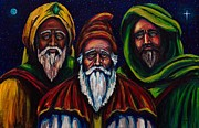 Epiphany Paintings - Portrait of the Three Wise Men by Kevin Richard