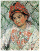 Blanche Framed Prints - Portrait of the Young Blanche Hoschede Framed Print by Claude Monet