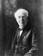 Edison Prints - Portrait of Thomas Edison Print by Underwood Archives