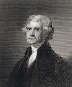 Portrait Of Thomas Jefferson Print by Henry Bryan Hall