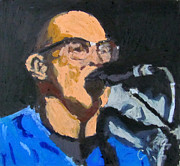 Music Portraits Pastels - Portrait of Tom Beyer by Greg Mason Burns