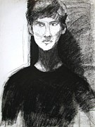 Light And Dark   Drawings - Portrait of Troy 2 by Anita Dale Livaditis