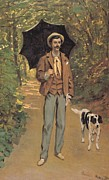Painter And Dog Art - Portrait of Victor Jacquemont by by Claude Monet