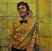 Portraits Paintings - Portrait of young man ll by Roberto Del Frate